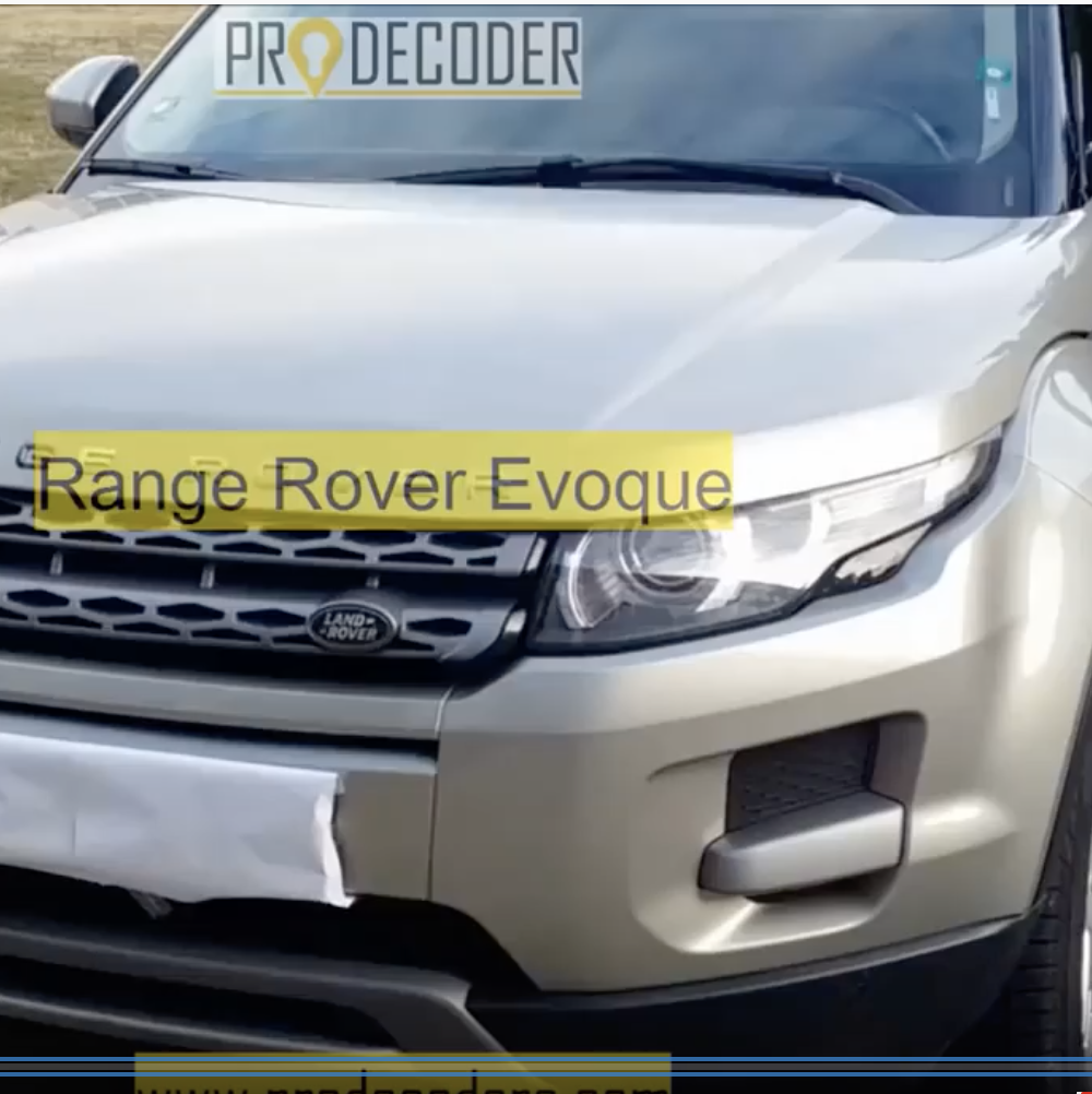Rover Evoque Opening with Prodecoder HU101