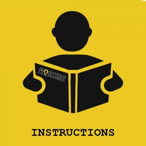 instructions PRODECODER