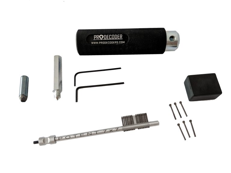 Double Bit Lever Locks Kit PRO Edition POTENT 7 X 7 invented and produced by PRODECODERS.COM